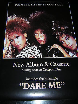 Original Pointer Sisters Promotional Poster - Contact