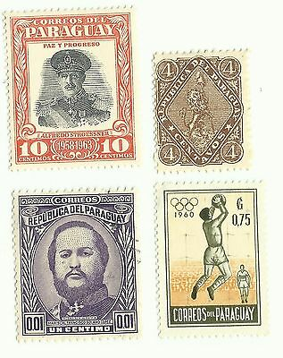 Paraguay postage stamps x 4