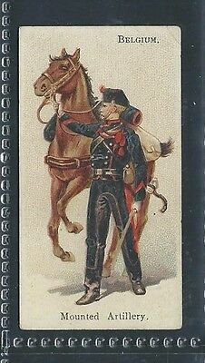 Bat British American Soldiers Of The World Leaf Back Belgium Mounted Artillery