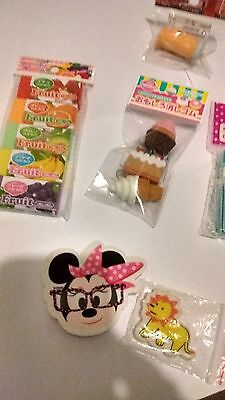 Bundle Of Erasers Gommes Some Vintage, Some Sealed And Some Iwako