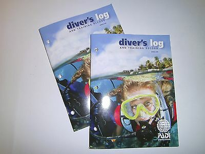 PADI SCUBA DIVING Logbook with training pages. BRAND NEW Qty 2