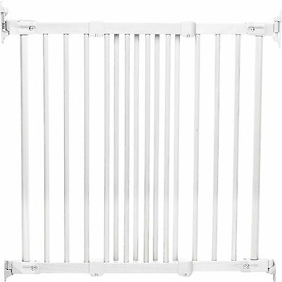 New Babydan  White Wood Flexi Fit Safety Stair Gate Covers 69 To 106.5 Cm