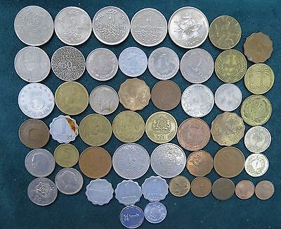 Lot of (52) Middle Eastern Coins ~ (1) 1929 Lebanon Silver Pastres