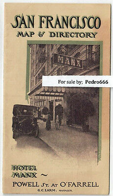 1910 er San Francisco Map & Directory Hotel Manx Union Square now Villa Florence
