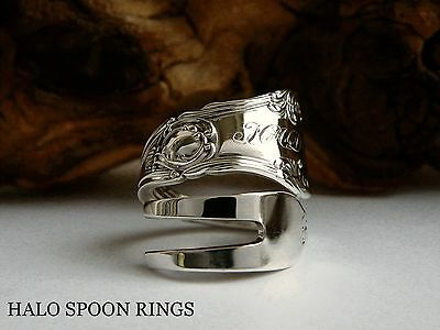 Stunning Ornate Ladies Sterling Silver Pickle Fork Ring  Ideal Mothers Day Gift