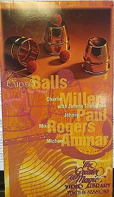 Cups & Balls THE GREATER MAGIC VIDEO LIBRARY VHS AMMAR CHARLIE MILLER THOMPSON