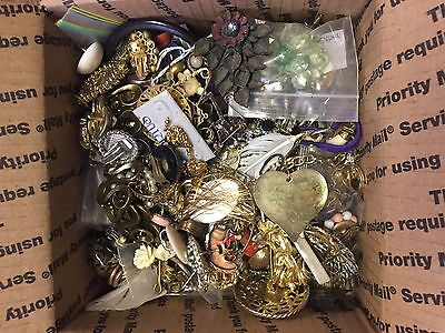 Mixed Lot of Fashion Jewelry 8 lbs Vintage and New (P5)