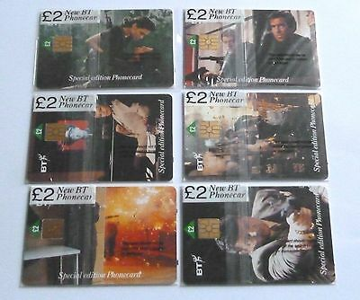 James Bond  / Special Edition  / Set Of 6 Mint Sealed Phonecards