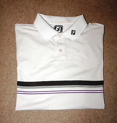 Footjoy White Mens Polo Golf Shirt Xl Great Condition