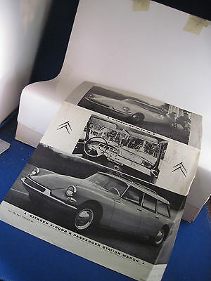 19?? Citroen DS19  ID19 brochure flyer