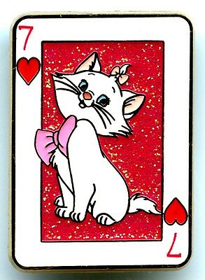 HKDL - Playing Card Mystery Tin Collection - Marie (Aristocats) Pin