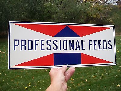 Old Vintage Beacon Professional Feeds AG Sign Feed Seed Metal Farm