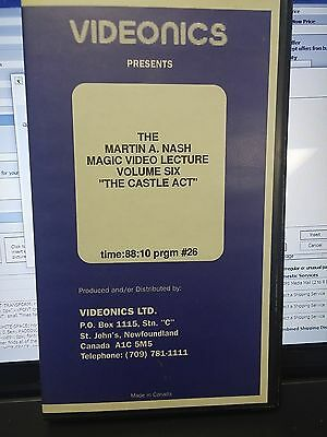 """The Martin A Nash Magic Video Lecture Volume 6 """"The Castle Act"""" VHS Tape"""