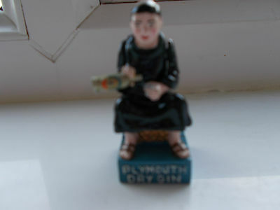 Vintage Advertising Figure - Monk With Plymouth Dry Gin