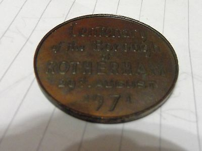 Borough Of Rotherham Centenary 1971 Medal Coin 29 August
