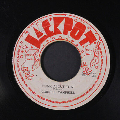 CORNELL CAMPBELL: Think About That / Version 45 (Jamaica) Reggae