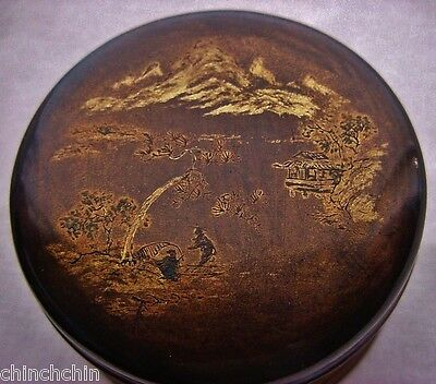 SMALL Amazingly INTRICATE Museum Quality JAPANESE Lacquer BOX Hand Painted MAKIE