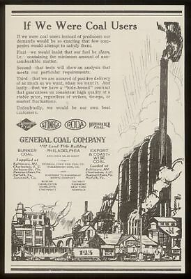 1924 General Coal Company plant illustrated vintage print ad