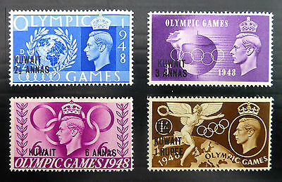 KUWAIT  1948 OLYMPIC OVERPRINT SET  2½d to 1/- (Mint Hinged)
