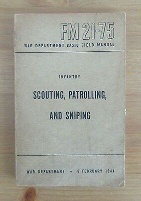 vintager 1944 US ARMY SNIPING HANDBOOK scouting sniper