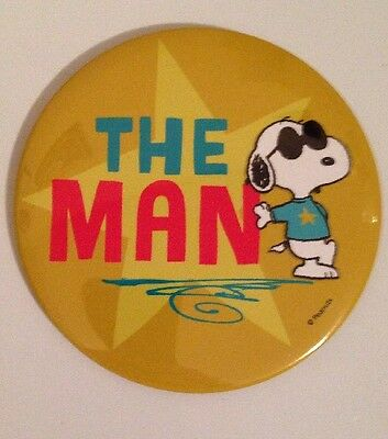 """Snoopy """"The Man"""" Pin Back Button! NEW!"""