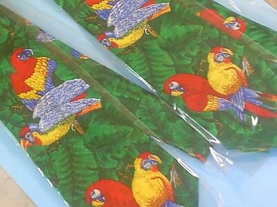 Two Parrot Neck Ties~Designs By A. Rogers~New Never Used