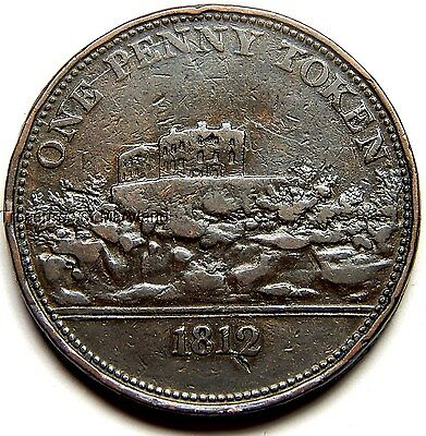 """Large 1812 """"Pound Note For 240 Tokens"""" British One Penny! sku #BP1"""