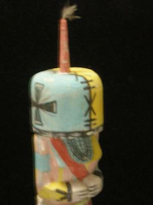 Antique Stiff Arm Vintage Hopi Indian Kachina Doll - Early Example - Nr !