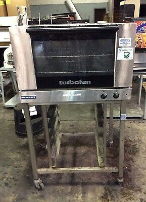 MOFFAT TURBOFAN ELECTRIC CONVECTION OVEN FULL SIZE 2 PAN w/ MOBILE STAND E27M2