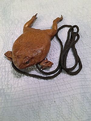 Frog Skin Coin Purse Real Whole Body With Web Feet New