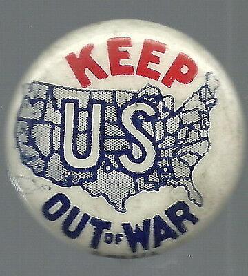 Keep U.s. Out Of War, Wwii Isolationist Pin
