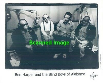 Press Photo: BEN HARPER & THE BLIND BOYS OF ALABAMA 8x10 B&W