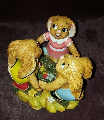 Pendelfin 3 Bunny Rabbit Figurine - Ring A Ring A Roses Around A Rosie - New