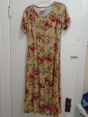 Nursing Dress Sz XS Motherwear Long Length Linen Blend S/S Career