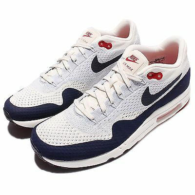 44e432917cc9 Nike Air Max 1 Ultra 2.0 Flyknit Obsidian Men Running Shoes Sneakers  875942-100
