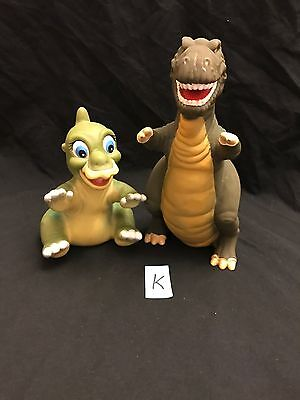 Lot Of 2 Land Before Time Forgot Dinosaurs 1988 Pizza Hut Puppets UCS Amblin