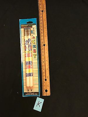 Vintage Disney Minnie & Mickey Mouse Pencils New Old Stock
