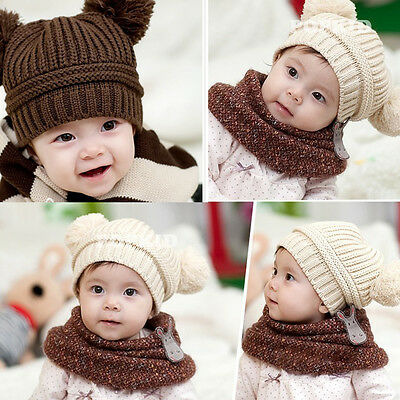 Baby Toddler Kids Boys Girls Hat Knitted Crochet Beanie Winter Warm Cap New