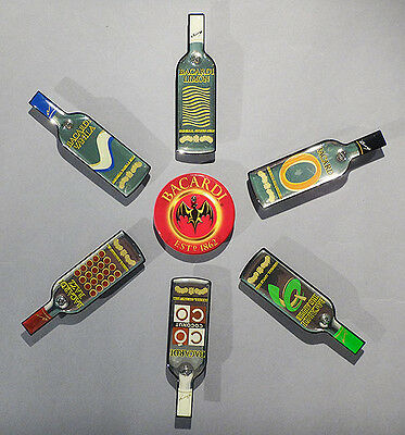 Collection of 7 BACARDI Brand Lighted Lapel Pins - NEW!