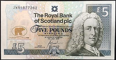 Uncirculated Jack Nicklaus Royal Bank of Scotland Sequential Five Pound Note