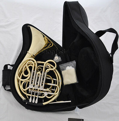 Professional 3+1 keys valves Double French Horn F/Bb New with case 305mm bell