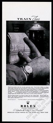 1956 Rolex Oyster Perpetual 25 jewel watch photo vintage print ad