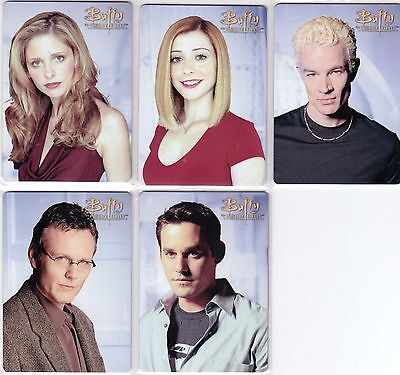 Buffy Ultimate Collector's Set Series 2 - Set Of 5 Metal Cards Bm1 - Bm5