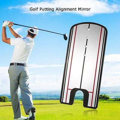 Mirror Putting Training Golf Alignment Aid For Practice Trainer G6K0