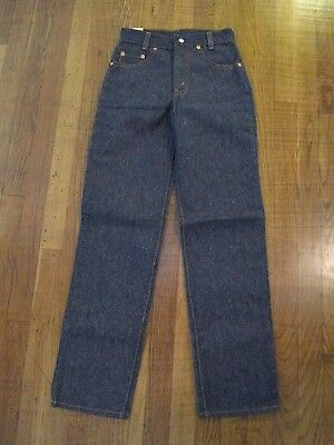 VTG NOS Unworn 80's Levi's Jeans Denim Zip Fly 302-0117 sz 10 25x30 USA Red Tab