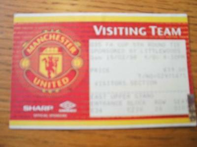 15/02/1998 Ticket: Manchester United v Barnsley [FA Cup