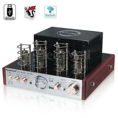 SUNBUCK Bluetooth Hifi Stereo Hybrid Tube Power Amplifier AMP 30W+30W USB Aux