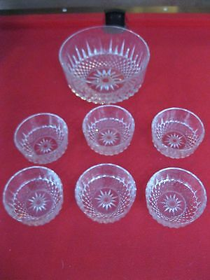 ARCOROC FRANCE TRIFLE 6 x DISHES/DESSERT DISHES  AND BOWL