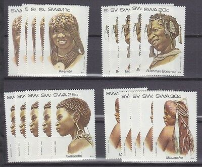 Stock Clearance! South West Africa 1984 - Traditional Headdresses Set X 5 - Mnh