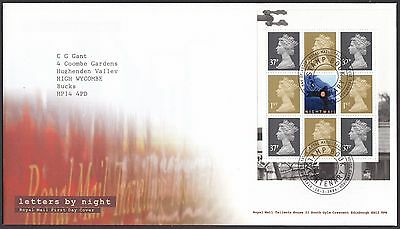 2004  Letters By Night  Booklet Pane  - With Insert Card  Fdc  (1674)